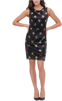 Tommy Hilfiger Sequined Stars Sheath Dress
