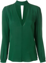 A.L.C. choker V-neck blouse