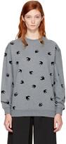 McQ by Alexander McQueen Grey Micro Swallow Sweatshirt
