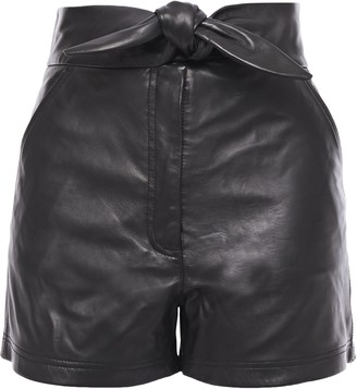 A.L.C. Kerry Knotted Leather Shorts