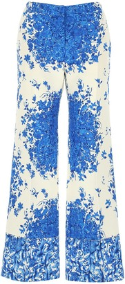Valentino Floral-Print Trousers