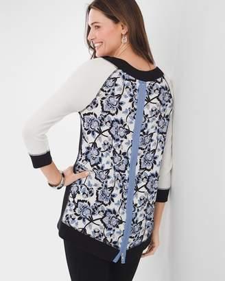 Zenergy Floral Zip-Back Tunic