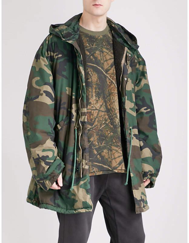 Yeezy Season 5 military cotton-canvas parka jacket