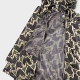 Paul Smith Men's Khaki 'Chain-Link Heart' Print Hooded Jacket