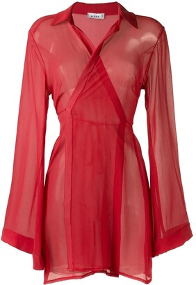 AMIR SLAMA Sheer Panel Dress