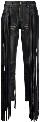 Golden Goose Fringe Trim Straight-Leg Trousers