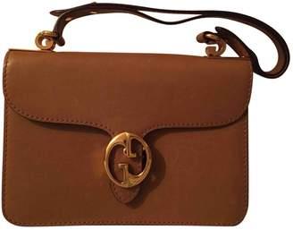 Gucci Interlocking Camel Leather Handbags