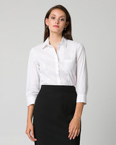 Le Château Stretch Poplin Button-Front Blouse
