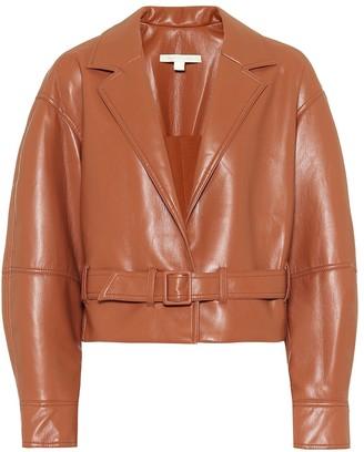 Jonathan Simkhai Faux-leather cropped jacket