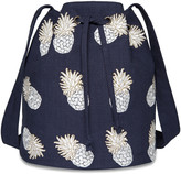Elizabeth Scarlett - Ananas Bucket Bag - Indigo