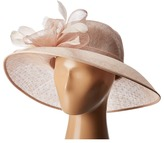 San Diego Hat Company DRS1013 Derby Sinamay Dress Hat with Flocked Dot Brim