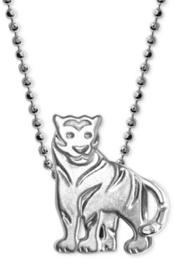 """Alex Woo Mini Tiger 16"""" Pendant Necklace in Sterling Silver"""