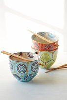 Urban Outfitters Medallion Noodle Chopsticks + Bowl