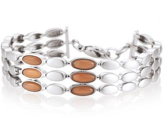 Breuning Sterling Silver Moonstone Layered Bracelet