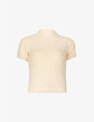 Sandro Valery high-neck cotton and wool-blend jumper