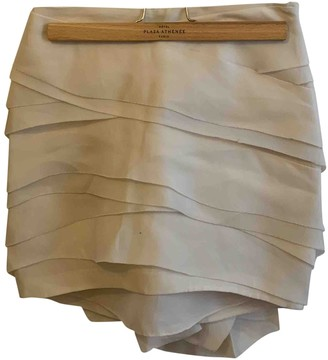 Vera Wang Beige Cotton - elasthane Skirt for Women