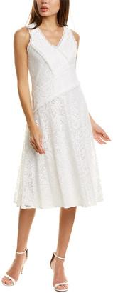 Taylor Floral Lace Midi Dress