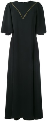 Ellery Contrast Stitch Mid-Length Dress