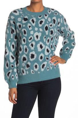 Love Token Animal Print Knit Sweater