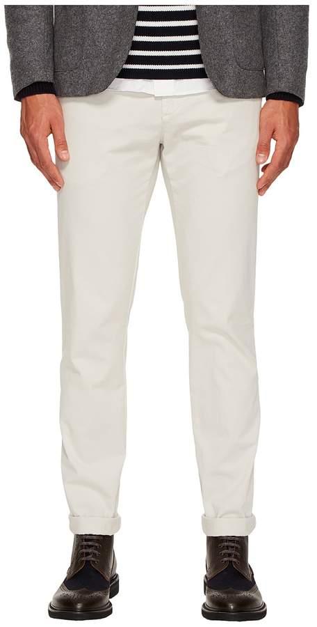 Eleventy Flat Front Regular Fit Stretch Cotton Pants Men's Casual Pants