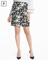 White House Black Market Petite Lattice Pencil Skirt