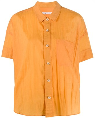 Julien David Crinkled-Effect Short-Sleeved Shirt
