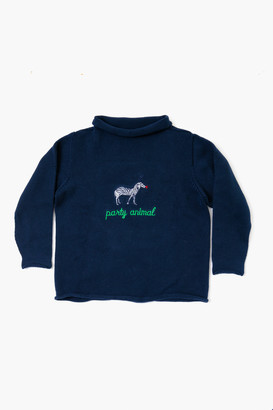 Tots Navy Party Animal Roll Neck Sweater