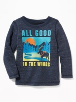 """Old Navy """"All Good in the Woods"""" Terry-Velour Sweatshirt for Toddler Boys"""