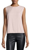 Halston Sleeveless Draped-Back Top, Sorbet