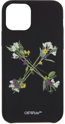 Off-White Black Flowers iPhone 11 Pro Case