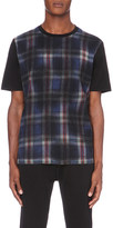 Lanvin Check-print wool and cotton-jersey t-shirt