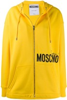 Moschino Couture! print zipped hoodie