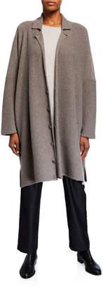 eskandar Long Wide-Knitted Blazer Cardigan