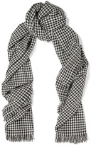Etoile Isabel Marant Checked Wool Scarf - Gray