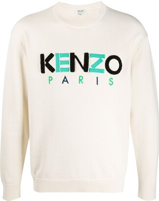 Kenzo Paris embroidered logo jumper