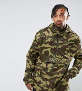 Puma Pullover Windbreaker In Camo Print In Green Exclusive To Asos 57663601