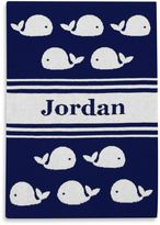 Tadpoles TadpolesTM by Sleeping Partners Ultra-Soft Knit Whale Blanket in Navy/White