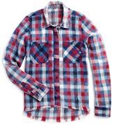 Blank NYC BLANKNYC Girls' Frayed Plaid Shirt - Sizes S-XL