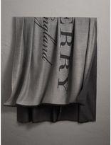 Burberry Graphic Print Motif Cashmere Wrap