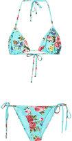 Dolce & Gabbana rose print bikini - women - Polyamide/Spandex/Elastane - 1