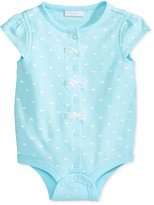 First Impressions Crown-Print Cotton Snap-Up Bodysuit, Baby Girls (0-24 months), Only at Macy's