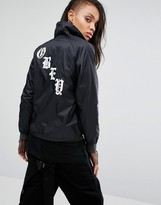 Obey Classes Coaches Jacket With Back Print