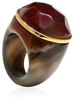 Alex Fraga 24K Gold and Inlaid Dolomite Stone Agate Ring