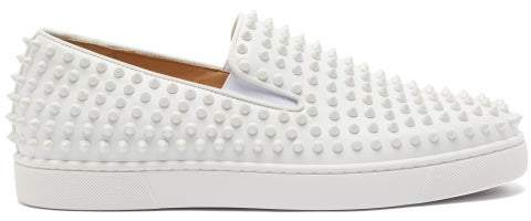 official photos 547fd e849a Roller Boat Spike Embellished Slip On Trainers - Mens - White