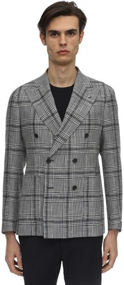 Tagliatore Double Breasted Cotton Linen Jacket