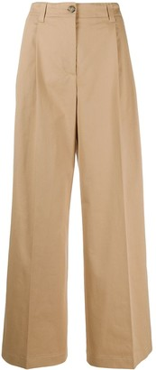 MSGM High-Waisted Wide Leg Trousers
