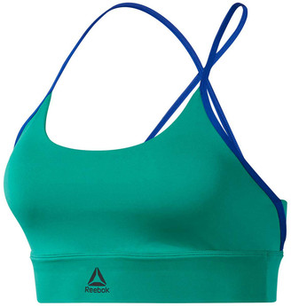 Reebok Womens Workout Ready Low Impact Padded Sports Bra Green XS