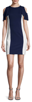 Susana Monaco Gigi Flutter Sleeve Colorblocked Sheath Dress