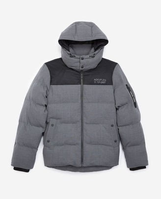 The Kooples Quilted charcoal grey down jacket