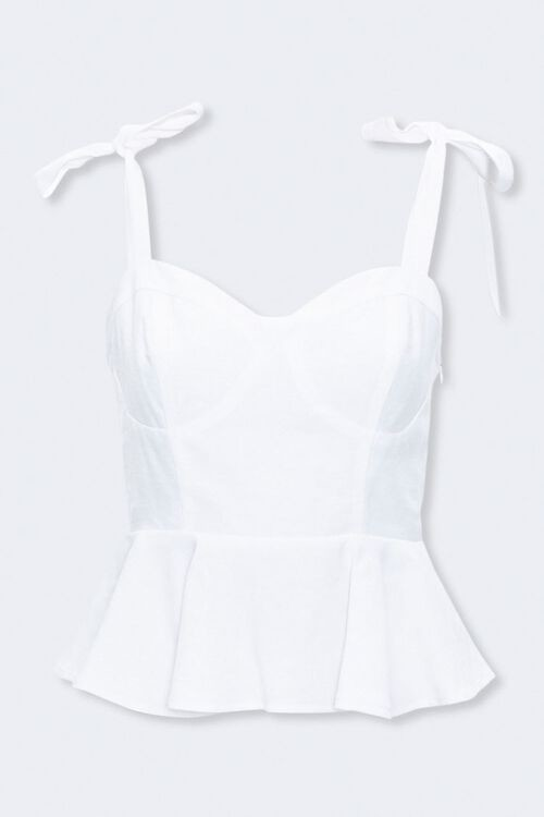 Forever 21 Sweetheart Tie-Strap Top